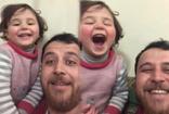 İdlib'li babanın kızıyla yürek yakan kahkahası oyun zannediyor