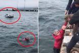 Sinop'da denize uçan otomobil sürücüsü böyle kurtuldu
