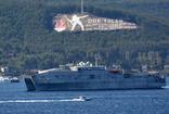 ABD'ye ait 'USNS Yuma' isimli gemi Çanakkale Boğazı'ndan geçiş yaptı