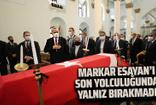 Markar Esayan için Ermeni Patrikanesi'nde cenaze töreni düzenlendi