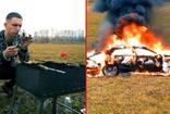 Ünlü fenomen 1ü5 milyonluk aracını ateşe verdi karşısında mangal yaktı