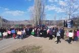 HES projesine tepki gösteren köylüler eylem yaptı