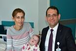Muğla'da 7 aylık Down sendromlu Elzem Eylül bebek kalp ameliyatı oldu