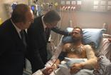 Cumhurbaşkanı Yardımcısı Fuat Oktay ve Dışişleri Bakanı Mevlüt Çavuşoğlu, Yeni Zelanda saldırında yaralananları ziyaret etti