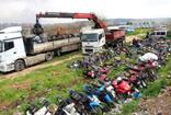 Gaziantep'te çürüyen motosikletler geri dönüşüm için Kırıkkale'ye gidiyor