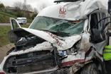 Samsun'da TIR, cenaze nakil aracına çarptı: Kazada 2 kişi ağır yaralandı
