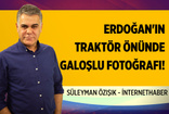 Erdoğan'ın traktör önünde verdiği 'galoşlu' fotoğraf!