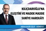 """Abdulkadir Selvi'den """"Kılıçdaroğlu'na eleştiri ve madde madde Suriye Harekâtı"""""""