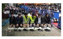 Anadolu Gençlik Derneği üyeleri Ayasofya Müzesi önünde sabah namazı kıldı
