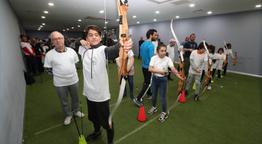 Aileler okçulukta şampiyonluk için kıyasıya yarıştı