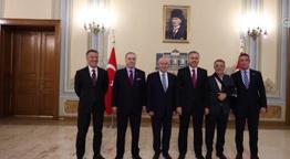TFF Başkanı ve dört büyükler başkanları İstanbul Valiliği'nde buluştu!