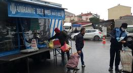 Ümraniye Belediyesi pazarlarda koronavirüs tedbirlerini arttırdı