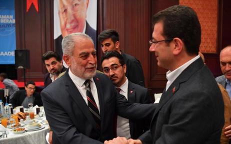 CHP İstanbul adayı Ekrem İmamoğlu'nun iftar Saadet'i!