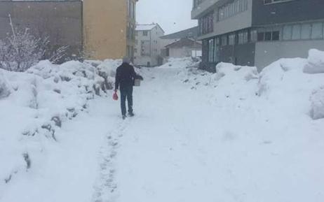 Karlıova güne karla uyandı
