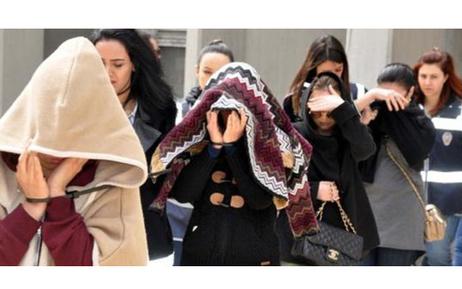 Ankara'daki fuhuş operasyonunda 13'ü yabancı uyruklu kadın, toplam 19 kişi adliyeye sevk edildi