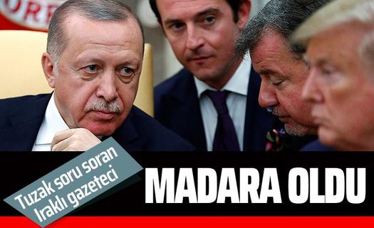 Erdoğan tuzak soru soran Iraklı gazeteciyi madara etti