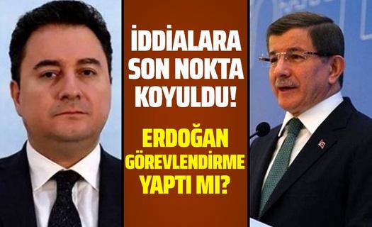 Cumhurbaşkanı Erdoğan, Davutoğlu ve Babacan'a heyet gönderdi mi?