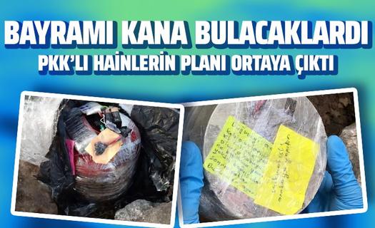 Bayramı kana bulayacaklardı! PKK'nın hain saldırı planı engellendi