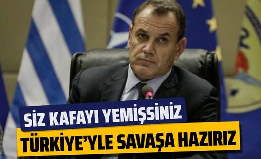 Yunan Bakandan küstah açıklama! Türkiye'yle çatışmaya hazırız
