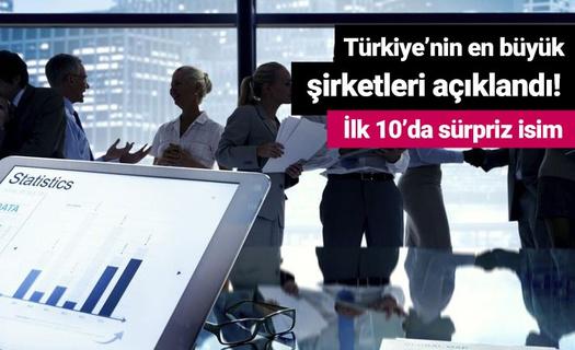 Türkiye'nin en büyük şirketleri açıklandı! İlk 10'da sürpriz isim