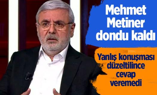Mehmet Metiner'in yanlış konuşması düzeltilince dondu kaldı cevap veremedi!