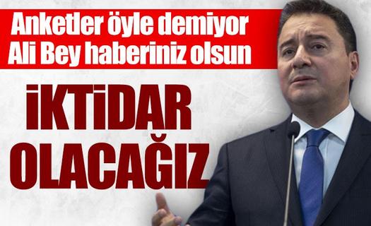Ali Babacan iktidar olmak istediklerini dile getirdi!