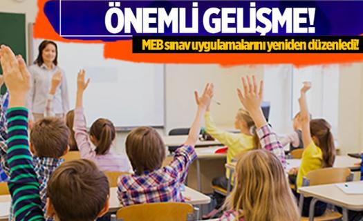 MEB sınav uygulamalarını yeniden düzenledi!