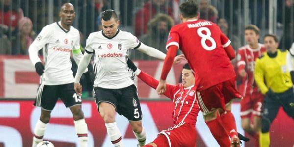 10 kişilik Beşiktaş, Bayern deplasmanında dağıldı: 5-0