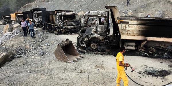 Siirt Eruh'ta terör örgütünden hain saldırı: 6 güvenlik görevlisi şehit