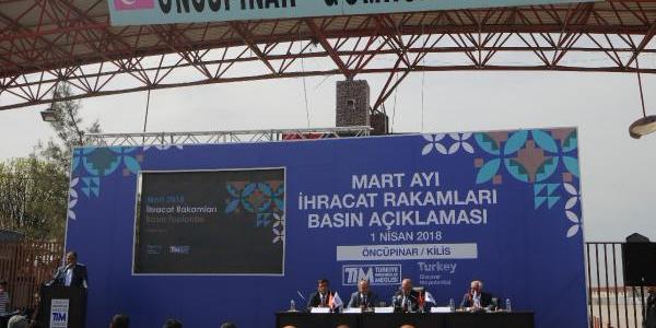 TİM Başkanı Mehmet Büyükekşi ihracat rakamlarını Kilis'teki sınırda açıkladı