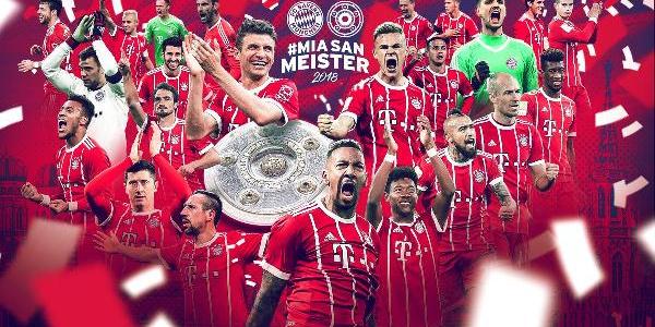 Bayern Münih, Bundesliga'da 6. kez üst üste şampiyon