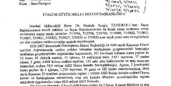 Maliye Bakanı Ağbal 14 yılda yapılan özelleştirmenin tablosunu çıkardı
