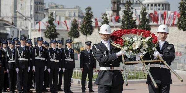 Türk Polis Teşkilatı'nın 173. Kuruluş Yıl Dönümü için Taksim'de tören