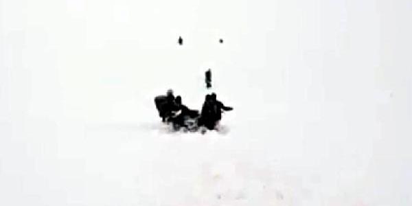 Kato Dağı'nda donma tehlikesi geçiren arkadaşlarını korucular kampetle kurtardı