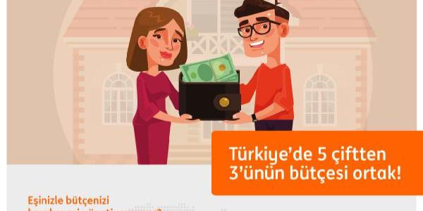 ING'nin araştırmasına göre Türkiye'de beş çiftten üçünün bütçesi ortak
