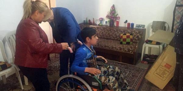 12 yaşındaki Iraklı çocuğun tekerlekli sandalye hayali Yozgat'ta gerçek oldu