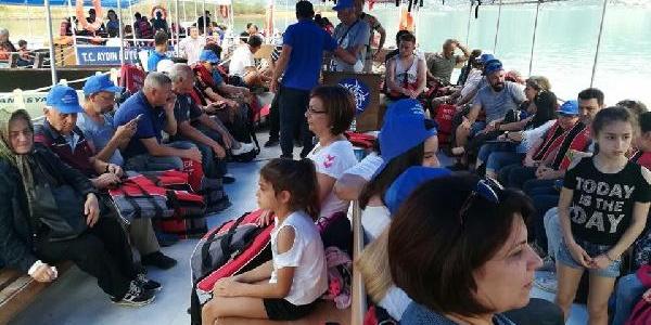 Doğaseverler Bozdoğan'daki Arapapıştı Kanyonu'na akın etti