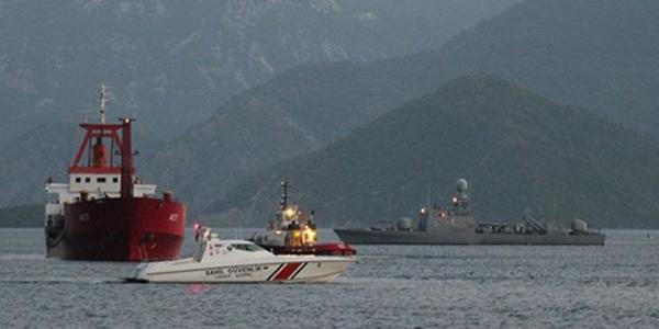 Midilli'de gemi kazası: Türk yük gemisi  Yunan savaş gemisi ile çarpıştı