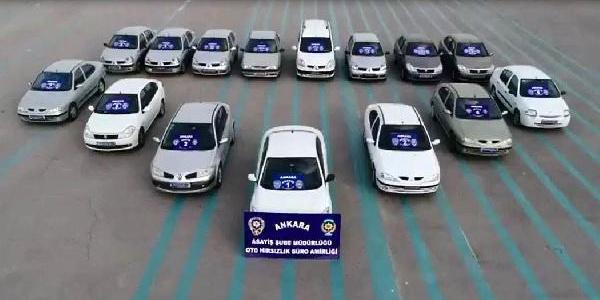 Ankara'da oto hırsızlığı çetesi 'Ampul' operasyonu ile çökertildi
