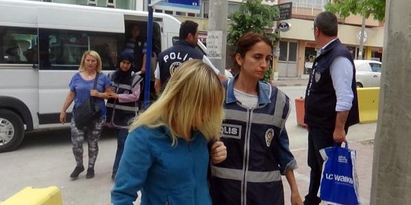 Burdur'daki masaj ve güzellik salonlarına baskında 5 tutuklama