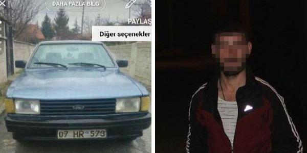 Arabasını çalan üvey oğlunun yakalanması için sosyal medyadan yardım istedi