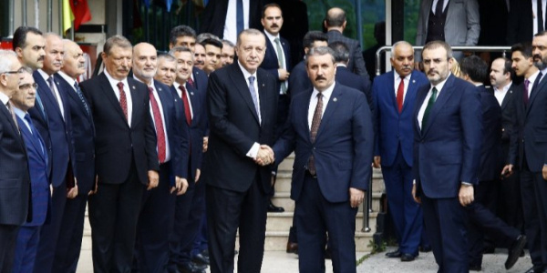 Cumhurbaşkanı Erdoğan,  Büyük Birlik Partisi'ni ziyaret etti