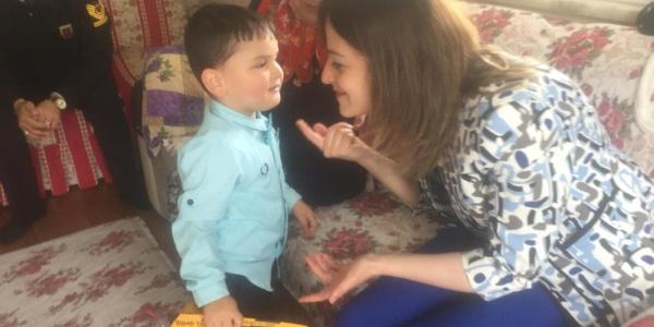 Şehit çocuğu Yusuf'a kaymakamdan sürpriz doğum günü sürprizi
