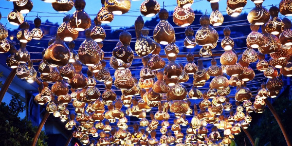 Alanya'da  su kabağı süslemeleriyle muhteşem görsel şölen