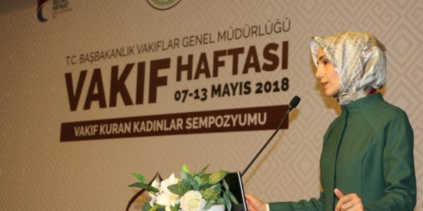 Sümeyye Erdoğan Bayraktar: Osmanlı'daki vakıflar dert ortağıydı