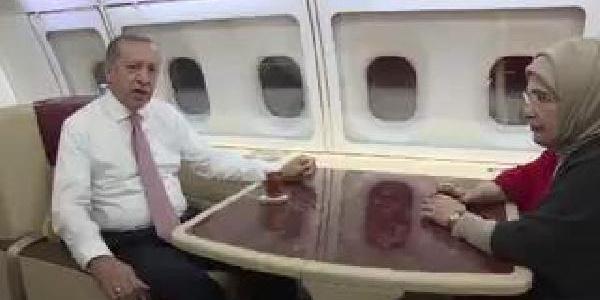 Cumhurbaşkanı Erdoğan Ramazan mesajını uçakta verdi