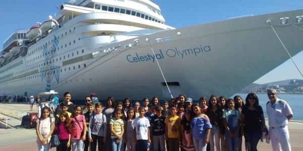 Germencikli öğrencilerin 5 yıldızlı gemi heyecanı