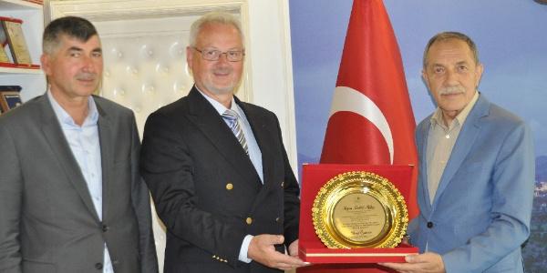 Gölbaşı Belediyesi Alman deprem uzmanını ağırlıyor