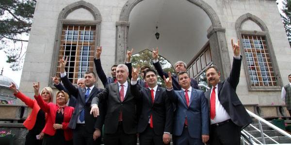 Kayseri'de MHP'nin her adayı için bir kurban kesildi