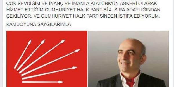 Sıralamadaki yerini beğenmeyen CHP'li aday partiden istifa etti